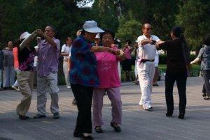 Over-65s dancing