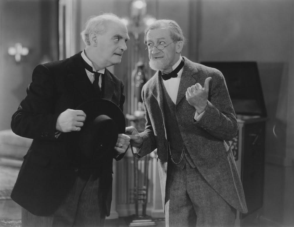 vintage photo of old men talking