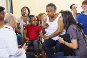 patients talking