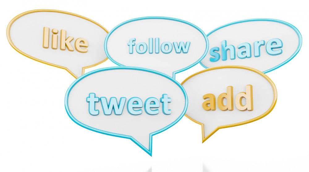 social media key words