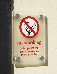 smoking ban sign