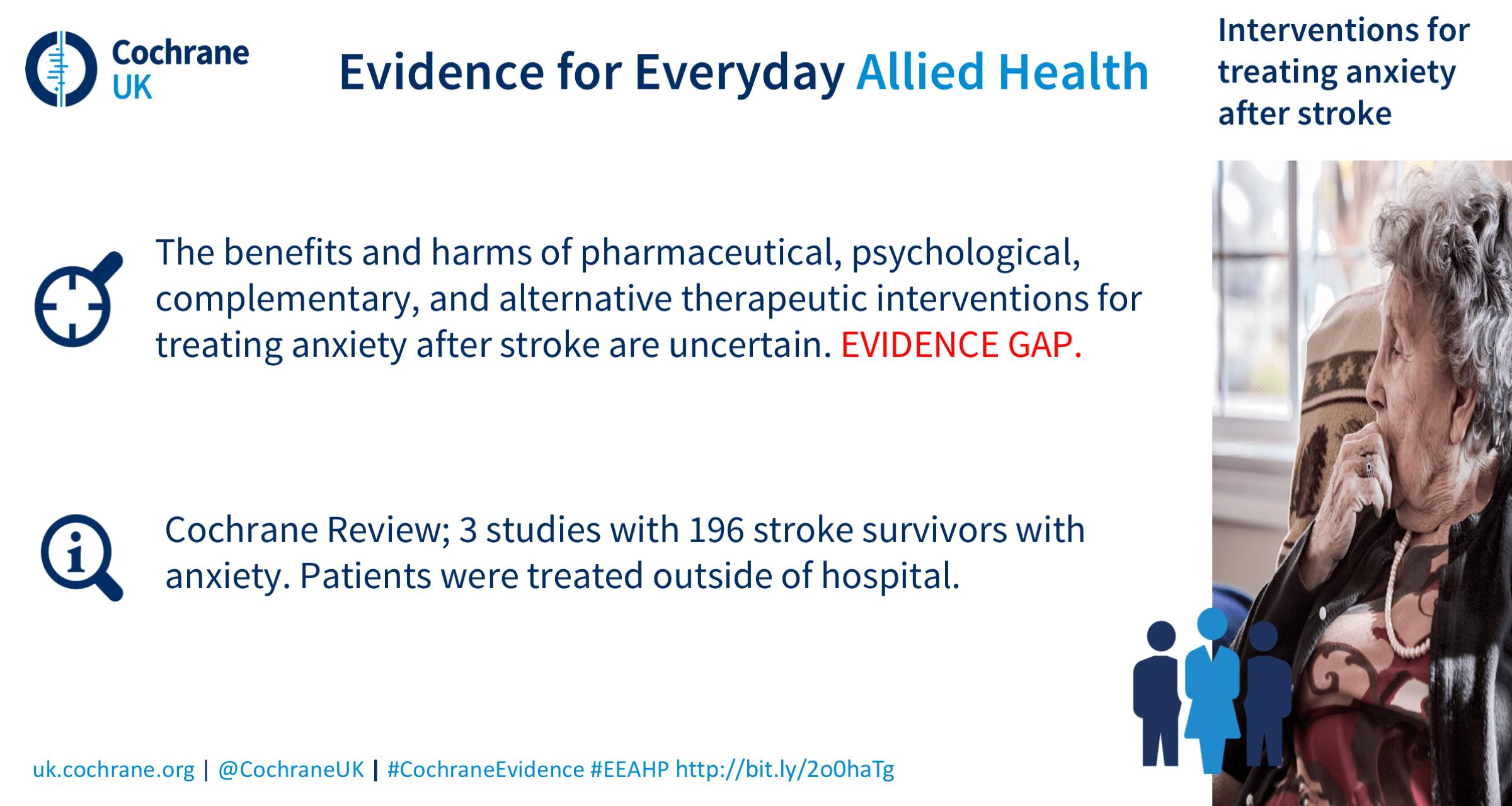 Life After Stroke: a round up of Cochrane evidence - Evidently Cochrane