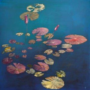 Artwork of waterlilies