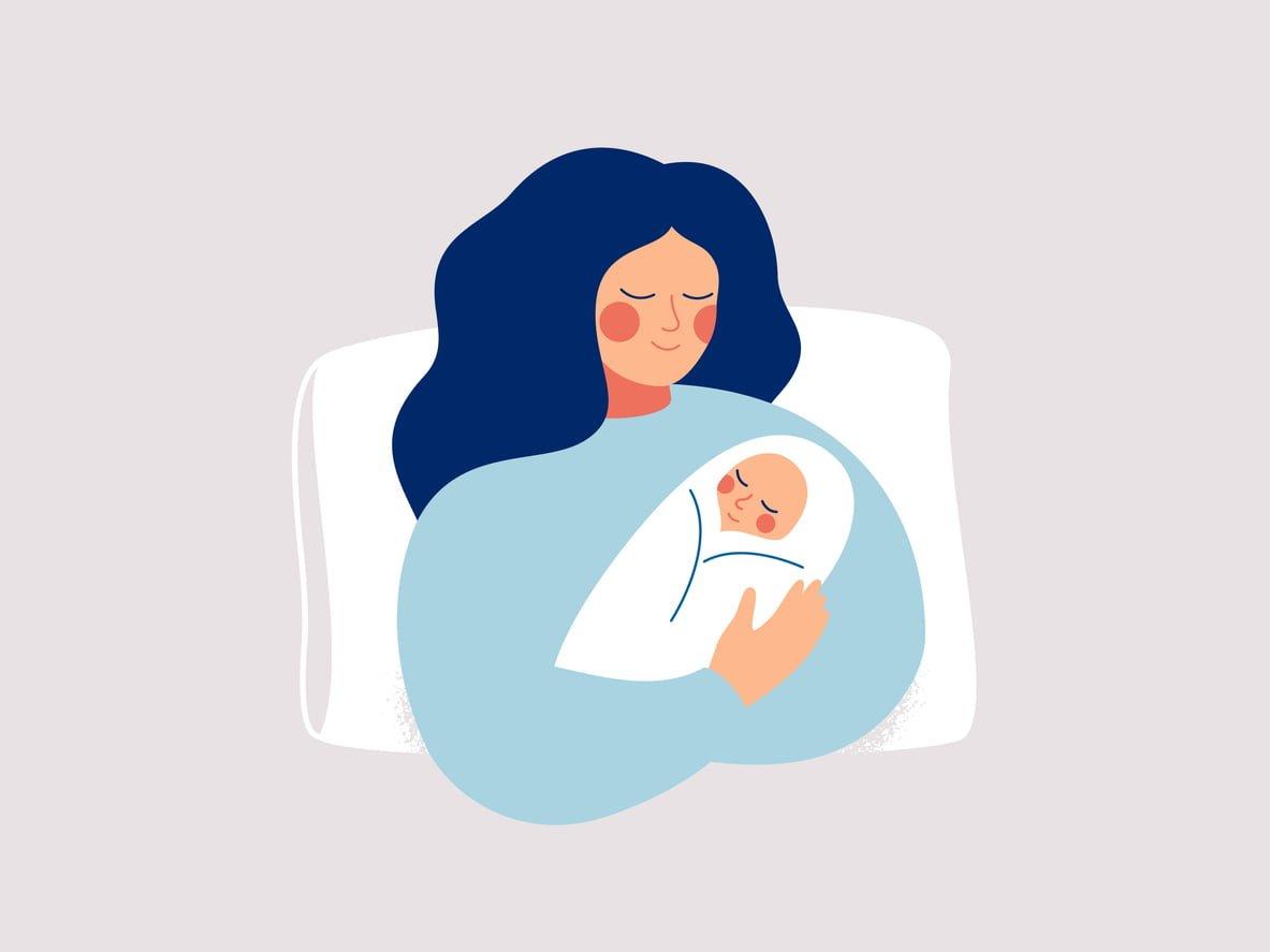 maternity, mum and baby graphic